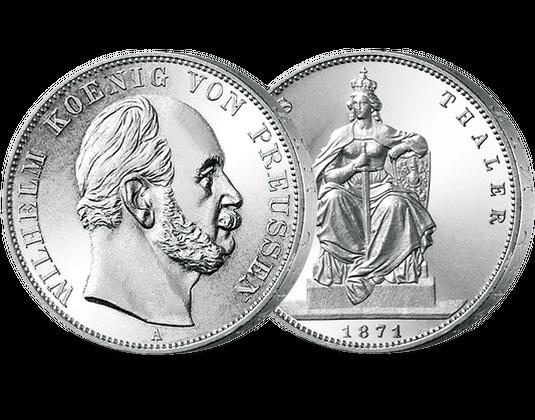Preußen Siegestaler 1871 Wilhelm I Mdm Deutsche Münze