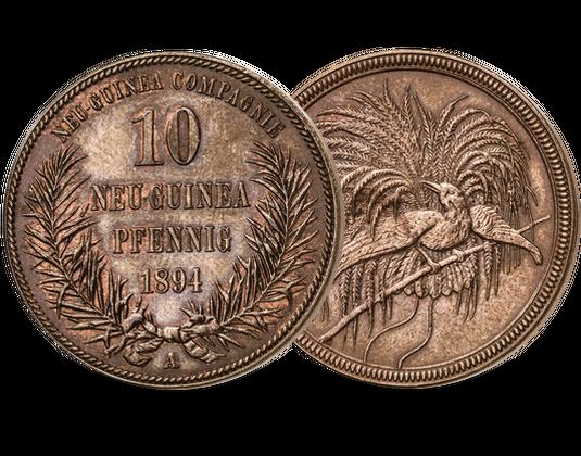 10 Pfennig Münze Deutsch Neuguinea 1894 Mdm Deutsche Münze