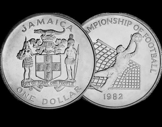Torwartmünze 1 Dollar Jamaika Zur Fußballweltmeisterschaft In