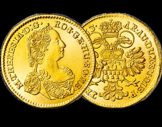 Gold Dukat Römisches Reich Maria Theresia Mdm Deutsche Münze