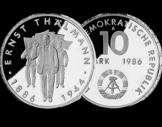 10 Mark Ddr 1986 Ernst Thälmann Mdm Deutsche Münze