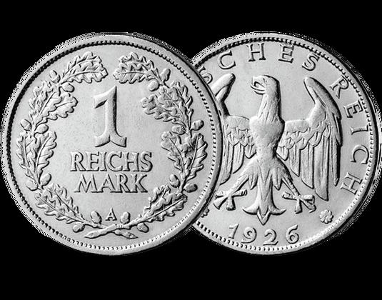 1 Reichsmark Silbermünze 1925 1927 Mdm Deutsche Münze