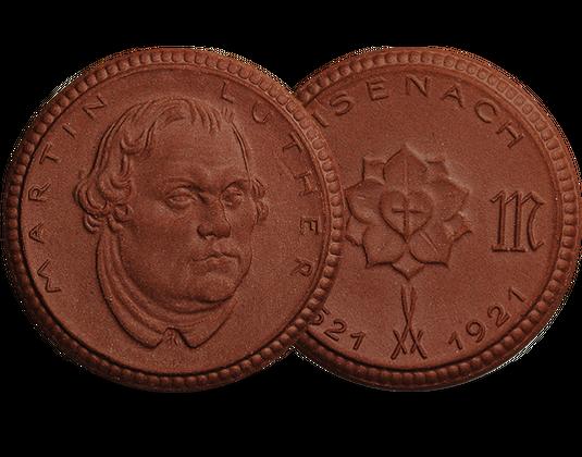 Gedenkmünze Martin Luther Aus Der Meißner Porzellanmanufaktur Mdm