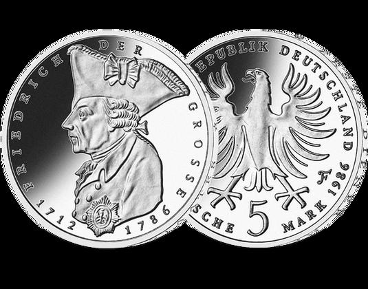 5 Dm Münze 1986 Friedrich Der Große Mdm Deutsche Münze