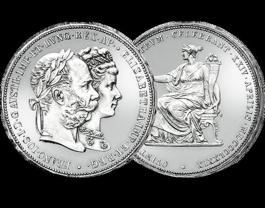 Doppelgulden Franz Joseph I Und Sisi Mdm Deutsche Münze