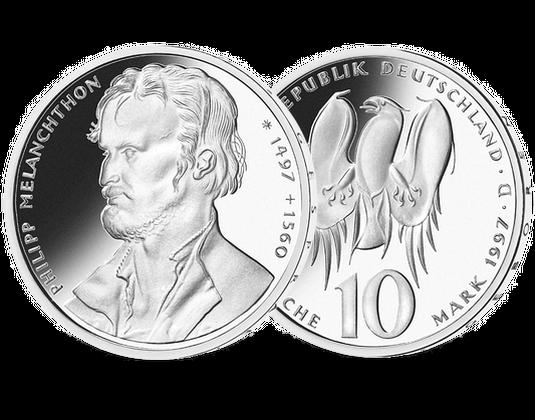 10 Dm Münze 1997 500 Geb Philipp Melanchthon Mdm Deutsche Münze