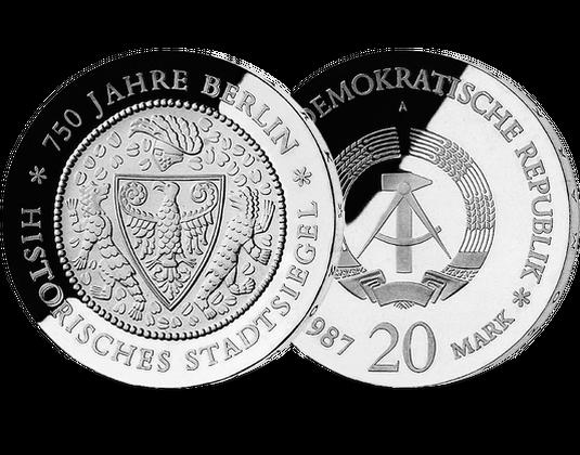 20 Mark Ddr 1987 750 Jahre Berlin Mdm Deutsche Münze