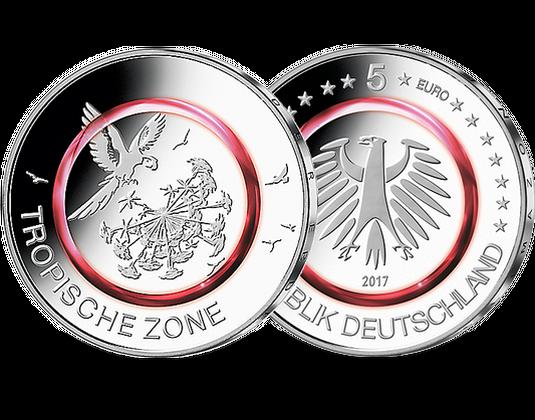 5 Euro Münze 2017 Tropische Zone Mdm Deutsche Münze