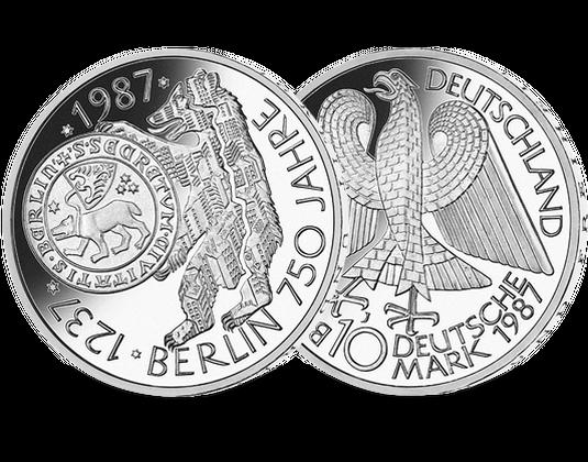 10 Dm Münze 1987 750 Jahre Berlin Mdm Deutsche Münze