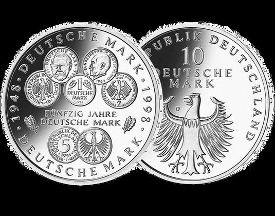 10 Dm Münze 1998 50 Jahre Deutsche Mark Mdm Deutsche Münze