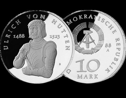 10 Mark Ddr 1988 Ulrich Von Hutten Mdm Deutsche Münze