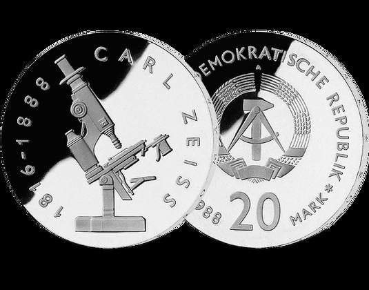 20 Mark Ddr 1988 Carl Zeiss Mdm Deutsche Münze