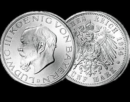 5 Mark Silbermünze Königreiche Bayern Mdm Deutsche Münze