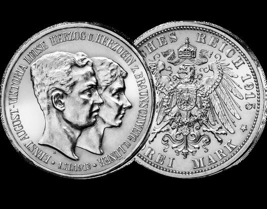 3 Mark Silbermünze Braunschweig Lüneburg Mdm Deutsche Münze