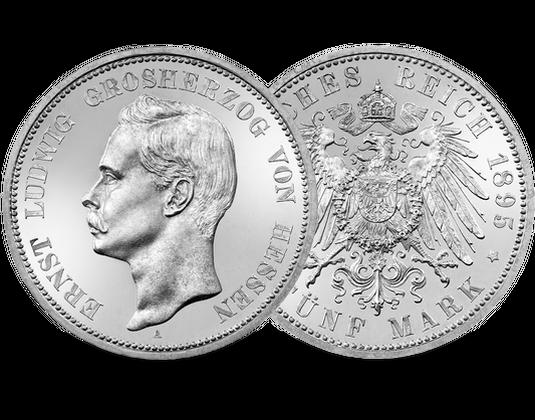 Deutsches Reichhessen 5 Mark 1895 1900 Ernst Ludwig Mdm Deutsche