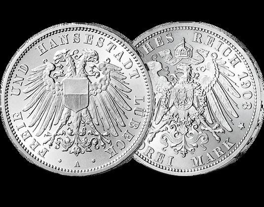 Silbermünze Deutsches Reich 3 Mark 1908 1914 Mdm Deutsche Münze