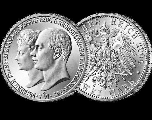 2 Mark Großherzog Friedrich Franz Iv Mdm Deutsche Münze