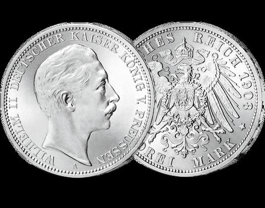 über 100 Jahre Alte Original Silbermünze Vom Letzten Deutschen