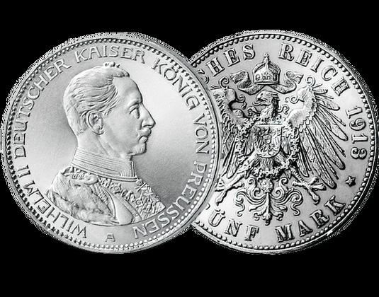 5 Mark Stück Preußen Kaiser Wilhelm Ii Mdm Deutsche Münze
