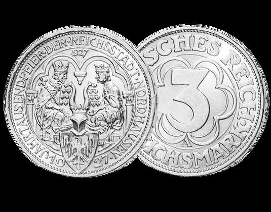 Weimarer Republik 3 Reichsmark 1927 Nordhausen Mdm Deutsche Münze