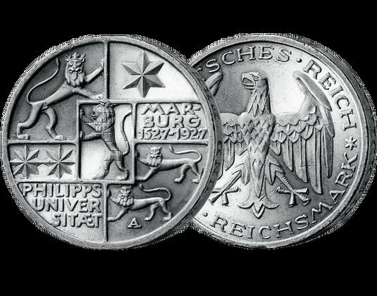 3 Reichsmark 400 Jahre Uni Marburg Mdm Deutsche Münze