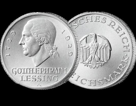 Weimarer Republik 3 Reichsmark 1929 Lessing Mdm Deutsche Münze