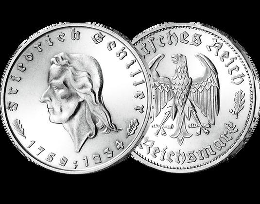 Silbermünze Deutsches Reich 1934 Friedrich Schiller Mdm Deutsche Münze