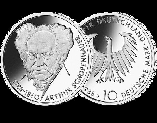 10 Dm Münze 1988 Arthur Schopenhauer Mdm Deutsche Münze