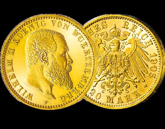 Goldmünze Württemberg Wilhelm Ii Mdm Deutsche Münze