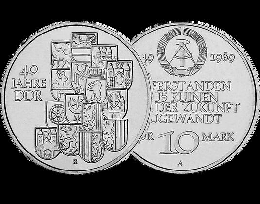 10 Mark Ddr 1989 40 Jahre Ddr Mdm Deutsche Münze
