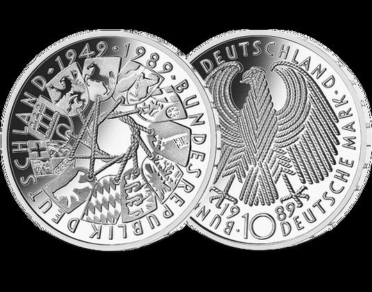 10 Dm Münze 1989 40 Jahre Bundesrepublik Mdm Deutsche Münze