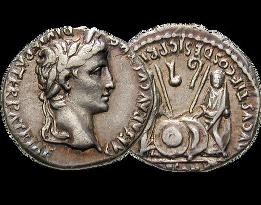 Silbermünze Kaiser Augustus Mdm Deutsche Münze