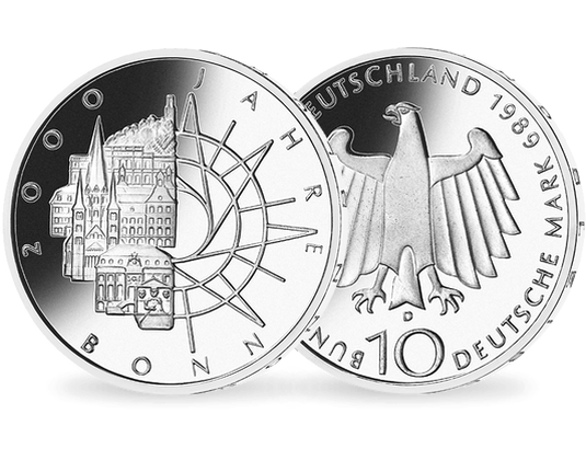 10 Dm Münze 1989 2000 Jahre Bonn Mdm Deutsche Münze