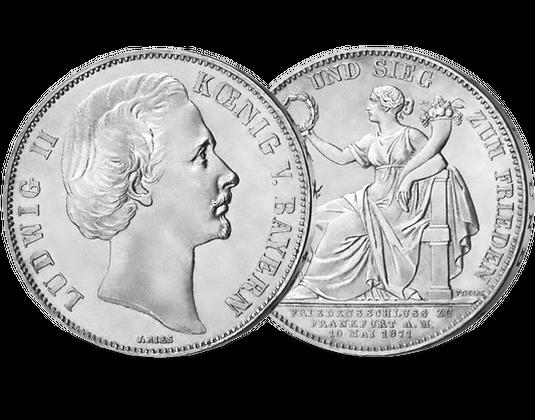 Silbertaler 1871 Märchenkönig Ludwig Ii Mdm Deutsche Münze