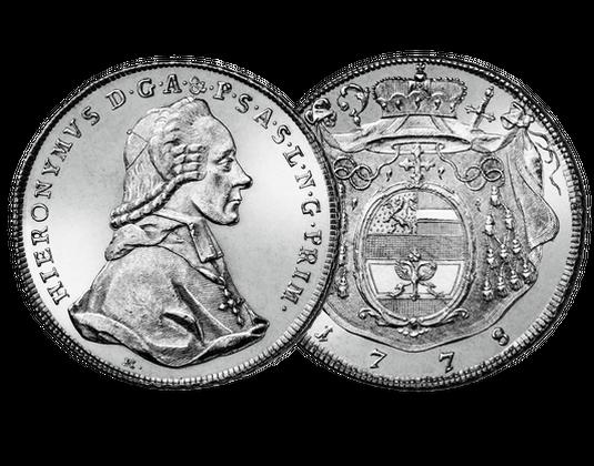 Salzburg Taler 1772 1800 Hieronymus Von Colloredo Mdm Deutsche Münze