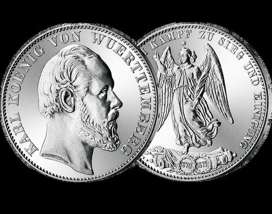Silbermünze Württemberg Siegestaler Mdm Deutsche Münze