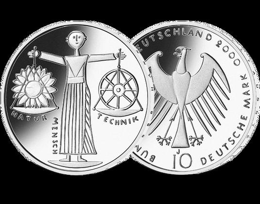 10 Dm Münze 2000 Expo Mdm Deutsche Münze