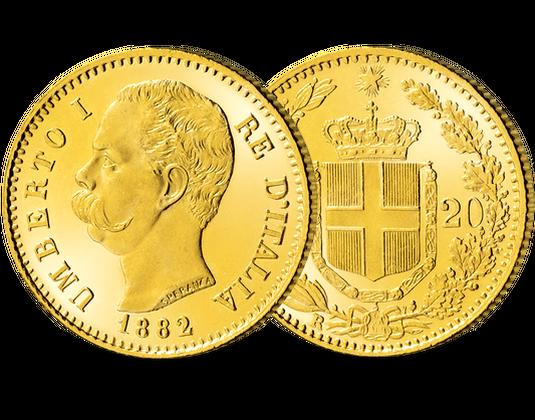 Goldmünze Umberto I Mdm Deutsche Münze