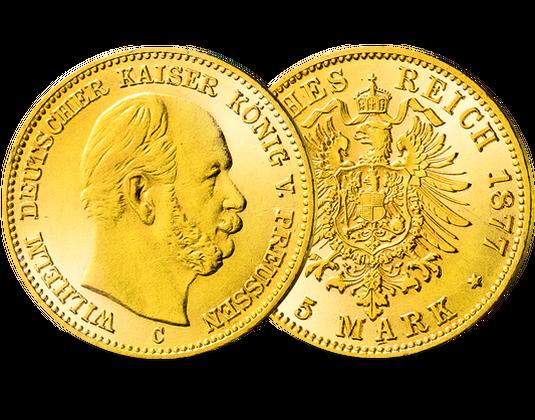 Goldmünze Preußen 5 Mark 1871 1873 Wilhelm I Mdm Deutsche Münze