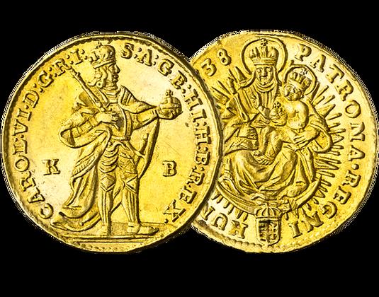 Ungarn Gold Dukat 17121740 Karl Vi Mdm Deutsche Münze
