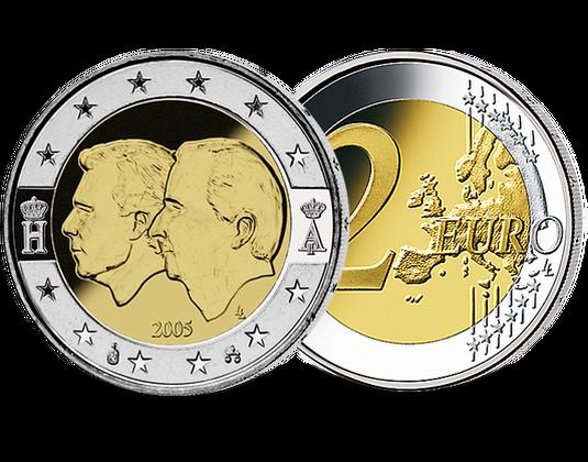 2 Euro Belgien 2005 ökonomische Union Mdm Deutsche Münze
