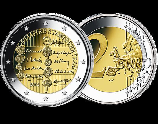 2 Euro österreich 2005 50 Jahre Staatsvertrag Mdm Deutsche Münze