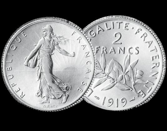 Frankreich 2 Francs Säerin 1898 1920 Mdm Deutsche Münze