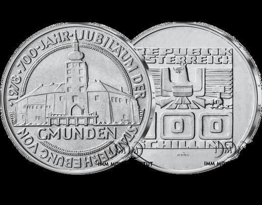 100 Schilling Gedenkmünze 700 Jahre Stadterhebung Von Gmunden