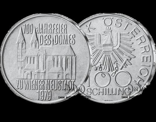 100 Schilling Gedenkmünze 700 Jahre Wr Neustädter Dom Imm