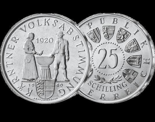 25 Schilling Gedenkmünze Kärntner Volksabstimmung Imm Münz