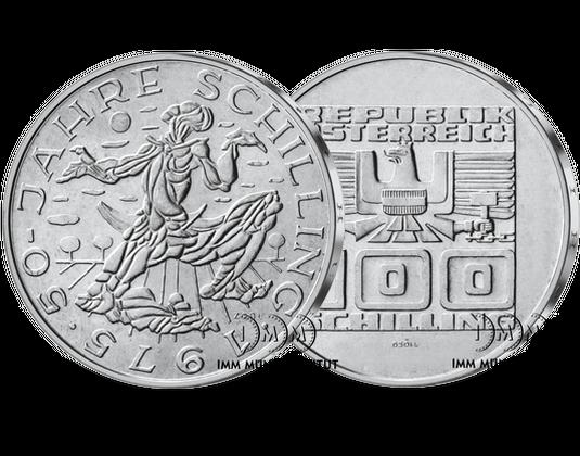 100 Schilling Gedenkmünze 50 Jahre Schillingwährung Imm Münz
