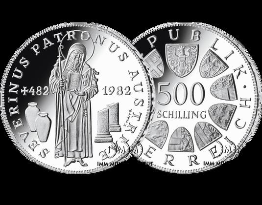 500 Schilling Gedenkmünze 1500 Todesjahr Von St Severin Imm