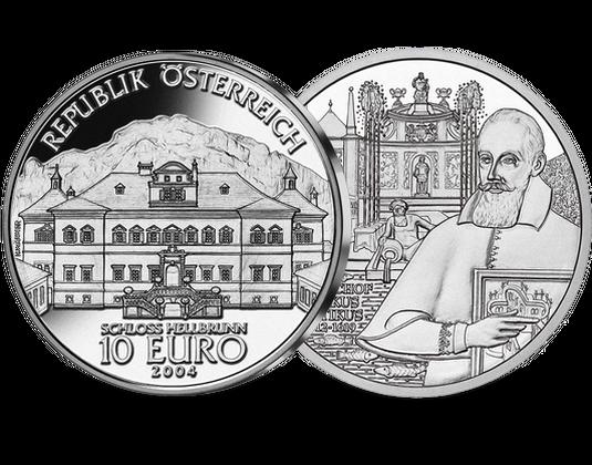 10 Euro Silbermünze 2004 Schloss Hellbrunn Imm Münz Institut