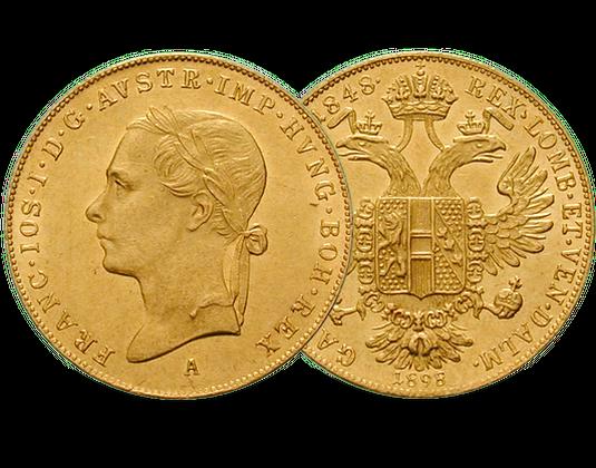 Linkskopf Dukat Von Kaiser Franz Joseph I Imm Münz Institut